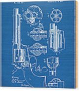 1875 Colt Peacemaker Revolver Patent Blueprint Wood Print