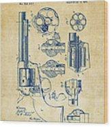 1875 Colt Peacemaker Revolver Patent Vintage Wood Print