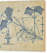 1879 Quinby Aerial Ship Patent Minimal - Vintage Wood Print