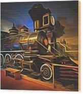 1880 Steam Locomotive  Wood Print