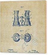 1882 Opera Glass Patent Artwork - Vintage Wood Print