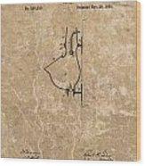 1882 Urinal Patent Wood Print