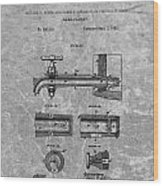 1885 Beer Tap Patent Charcoal Wood Print
