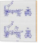 1885 Roller Skate Patent Blueprint Wood Print
