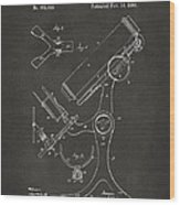 1886 Microscope Patent Artwork - Gray Wood Print