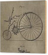 1890 Bicycle Patent Wood Print