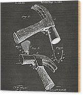 1890 Hammer Patent Artwork - Gray Wood Print