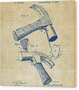 1890 Hammer Patent Artwork - Vintage Wood Print