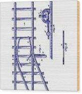 1890 Railway Switch Patent Blueprint Wood Print