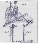 1891 Bicycle Patent Blueprint Wood Print