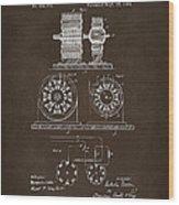 1891 Tesla Electro Magnetic Motor Patent Espresso Wood Print