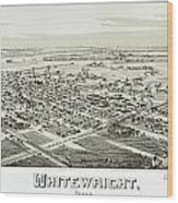 1891 Vintage Map Of Whitewright Texas Wood Print