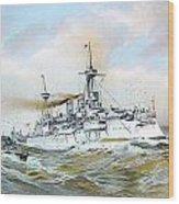 1895 - The Brandenburg Squadron At Sea - Color Wood Print