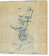 1896 Dental Chair Patent Vintage Wood Print