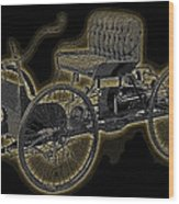 1896 Quadricycle Henry Fords First Car Wood Print