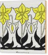 1897 Jugend Print Art Nouveau Motifs Flowers Narcissus Daffodil  Wood Print