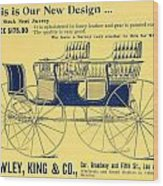 1898 - Hawley King And Company - Surrey Buggy Advertisement - Color Wood Print