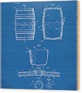 1898 Beer Keg Patent Artwork - Blueprint Wood Print