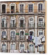 18th Century Building In Lisbon Wood Print