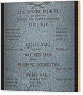 18th Infantry Regiment History Wood Print