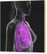 Healthy Lungs Wood Print