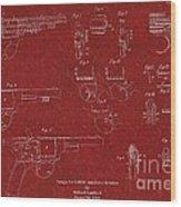 1900 Landstad Automatic Revolver Patent Wood Print