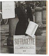 1900s British Suffragette Woman Wood Print
