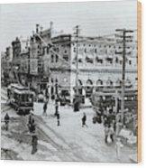 1900s Intersection Of Fair Oaks Wood Print
