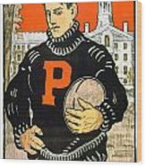 1901 - Princeton University Football Poster - Color Wood Print