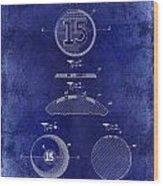 1902 Billiard Ball Patent Drawing Blue Wood Print