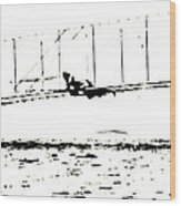 1902 Wright Brothers Glider Tests Wood Print
