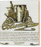 1903 - Columbia Motor Carriage Advertisement Wood Print