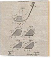 1903 Golf Club Patent Wood Print