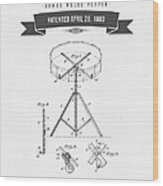 1903 Portable Drum Patent Drawing Wood Print