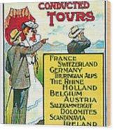 1904 Cooks Conduted Tours Vintage Travel Art Wood Print