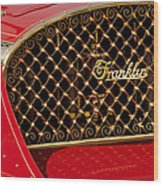 1904 Franklin Open Four Seater Grille Emblem Wood Print by Jill Reger