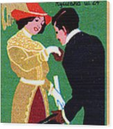 1905 Prague Fashion Poster Wood Print