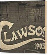 1905 Restaurant  Wood Print