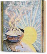 1906 - Quaker Oats Cereal Advertisement - Color Wood Print