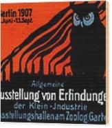 1907 Berlin Exposition Poster Wood Print