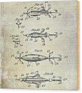 1907 Fishing Lure Patent Wood Print