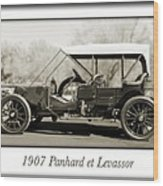 1907 Panhard Et Levassor Wood Print by Jill Reger