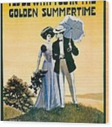 1908 - I'll Be With You In The Golden Summertime - Lew Bonner And J.j. Bachman - Sheet Music - Color Wood Print