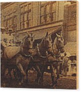 1908 Nickel-plated  Nott Steamer Fire Truck July 4th Parade East Congress Tucson Arizona 1909-2009 Wood Print