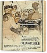 1909 - Oldsmobile Advertisement - Color Wood Print