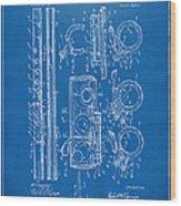 1909 Flute Patent - Blueprint Wood Print
