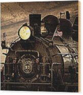 1909 Steam Engine 1909 Wood Print by Jeanne  Bencich-Nations