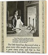 1910 - Ivory Soap Christmas Proctor And Gamble Advertisement  Wood Print