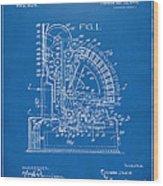 1910 Cash Register Patent Blueprint Wood Print