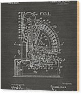 1910 Cash Register Patent Gray Wood Print